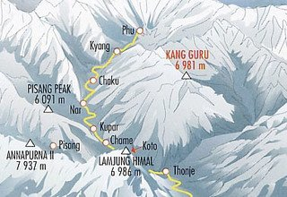 Himlung Himal Expedition, Camping 41 Tage