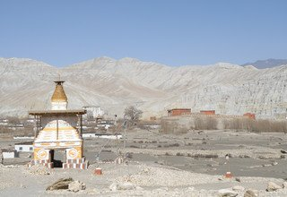 The Ancient Wall City of Lo-Manthang in Upper Mustang Lodge Trek, 16 Days