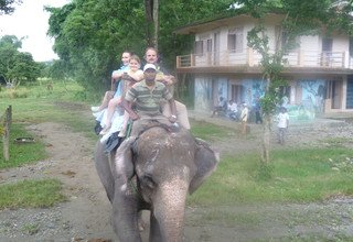 Yolmoland Family Lodge Trek and Chitwan Tour, 14 Day 9 August to 22 August 2014