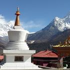 Ancient monasteries in Buddhist Sacred Site Trail of Everest Region of Nepal