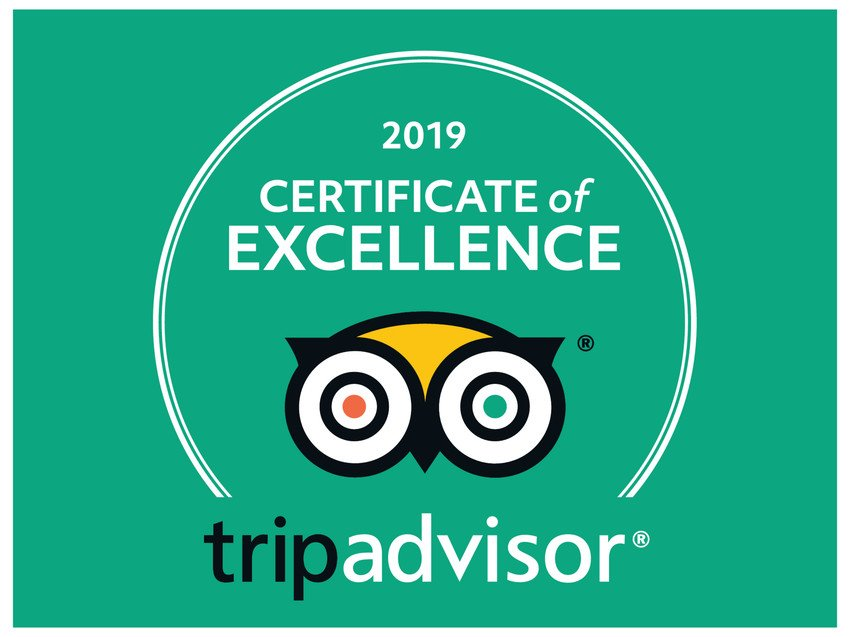 2019 Certificate of Excellence by TripAdvisor