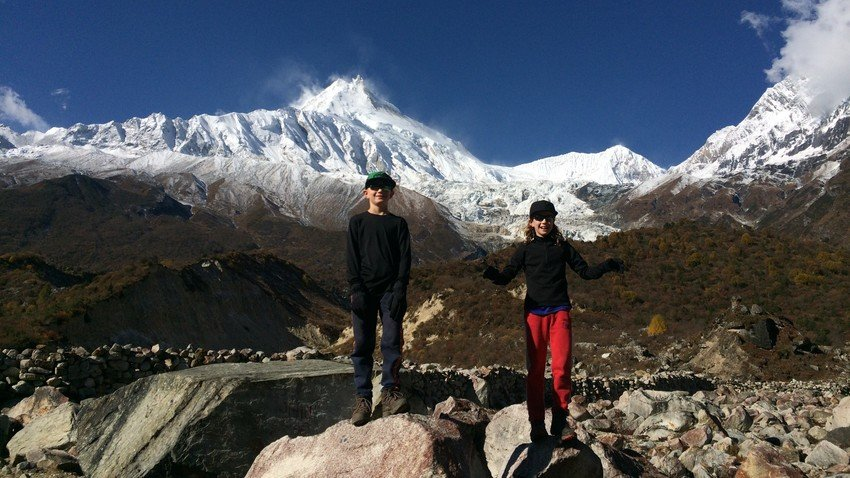 During Manaslu Circuit Trek