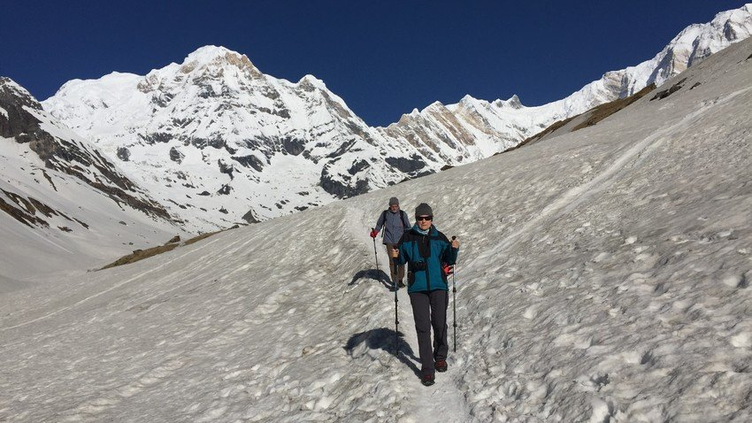 Way back from Annapurna Base Camp