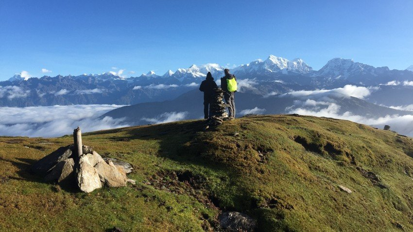 Enjoying with scenic mountain view during the Pikey Peak Trek