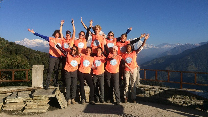 Group photos from female group in Ghorepani Poon Hill Trek