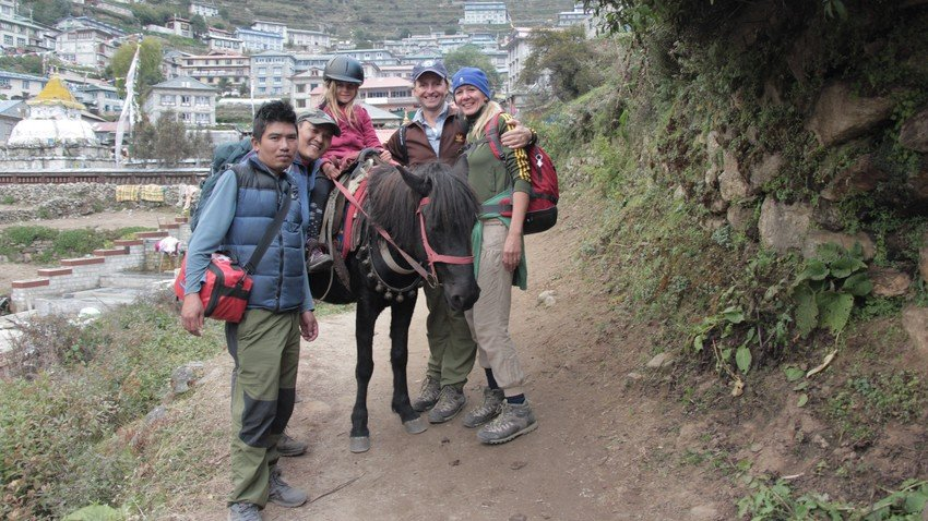 Horse Riding Trek to Everest Panorama with Children