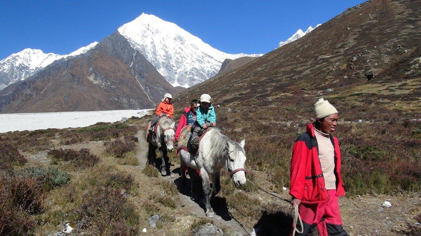 Horse Riding Trek to Langtang Valley with Children
