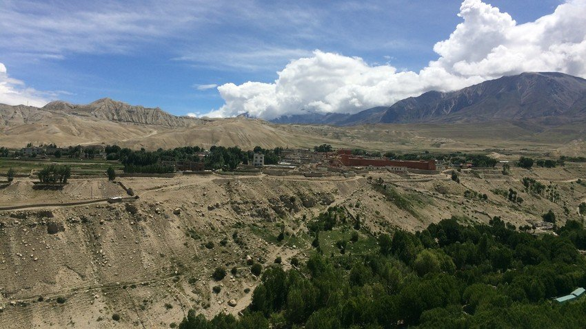 Ancient Wall City of Lo-Manthang in Upper Mustang