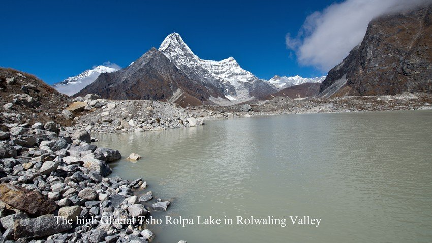 Tsho Rolpa Lake in Rolwaling Valley