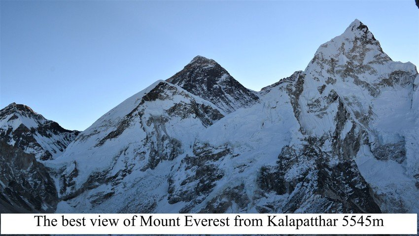 The best view of Mount Everest from Kalapatthar