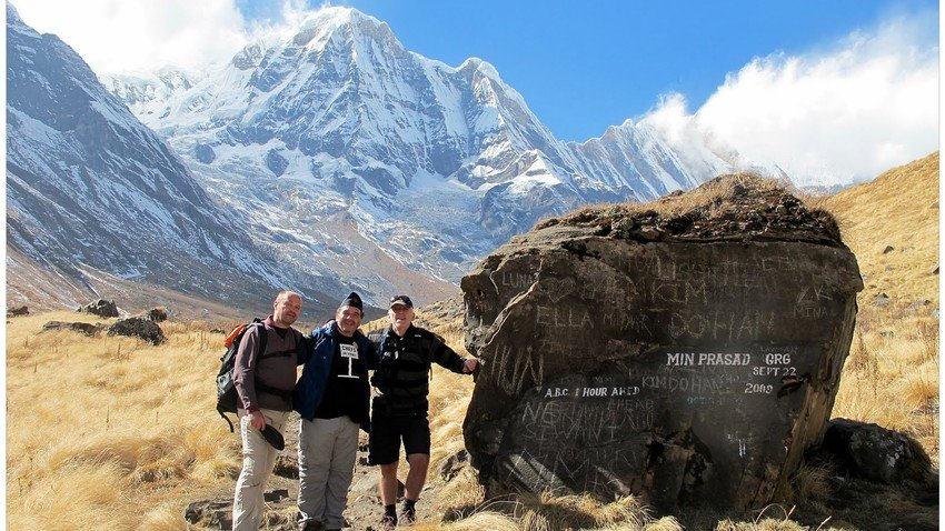 Annapurna Base Camp with Annapurna Peak