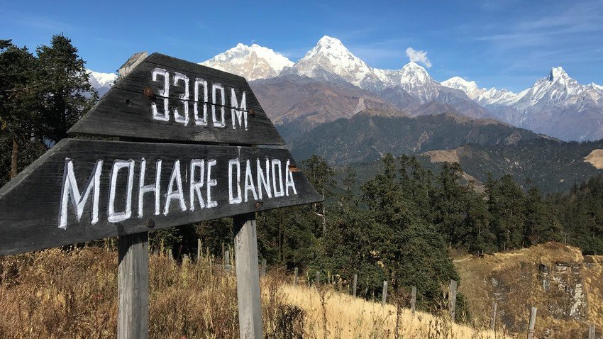 View from Mohare Danda in Annapurna Region