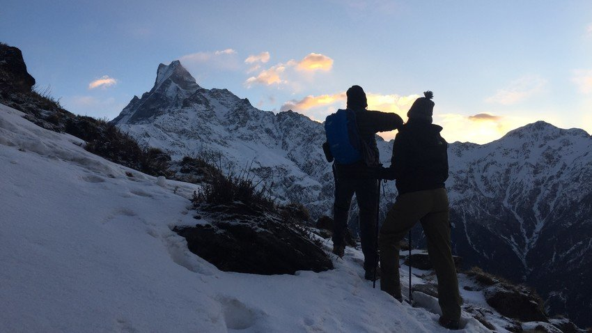 Trekking in Nepal during winter time