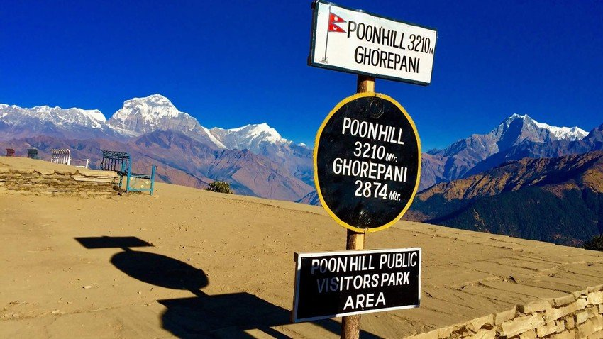 Poon Hill - the vantage point for Himalayan scenery