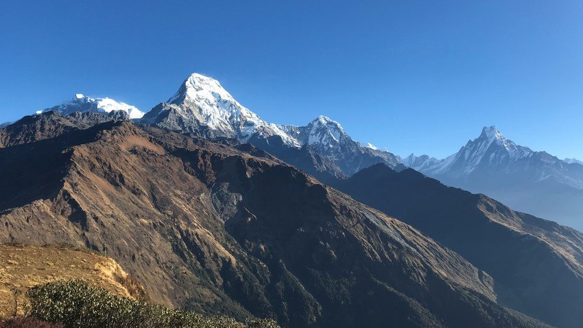 Annapurna mountains view from Mulde View Point